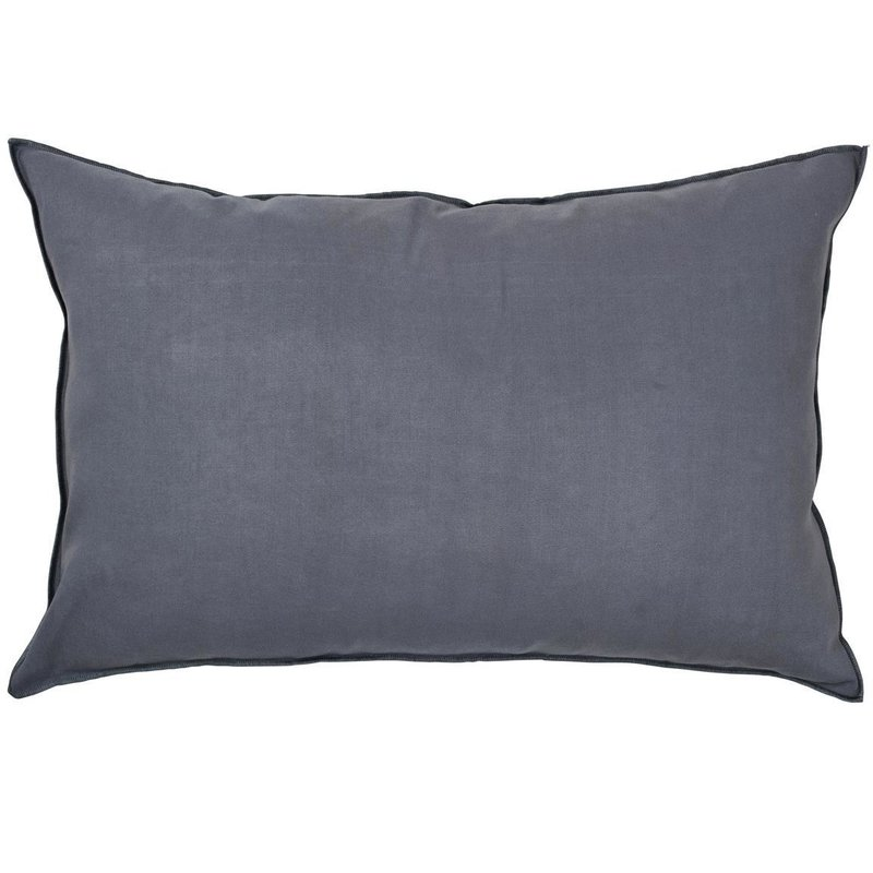 broste copenhagen kissenh lle overlock 40x60cm flint stone blau onl. Black Bedroom Furniture Sets. Home Design Ideas