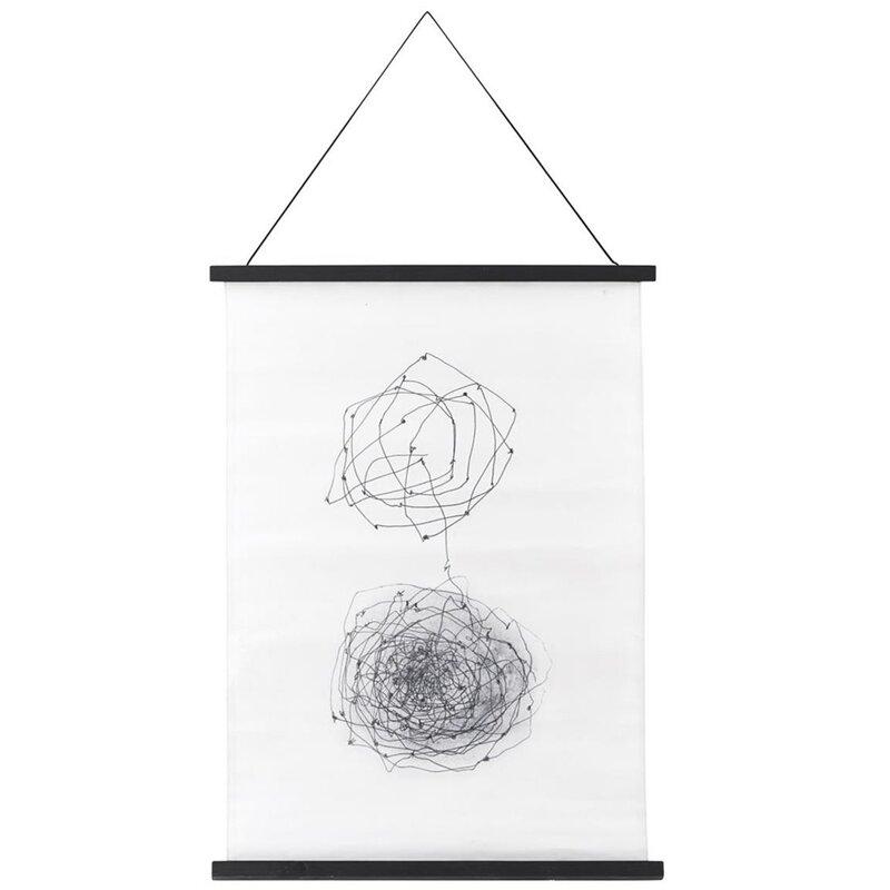 poster wanddeko kritzel grafik 50x70cm schwarz wei von. Black Bedroom Furniture Sets. Home Design Ideas