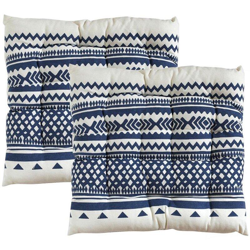 sitzkissen stuhlkissen blaues muster stuhlauflage 40x40 cm 7cm dick. Black Bedroom Furniture Sets. Home Design Ideas
