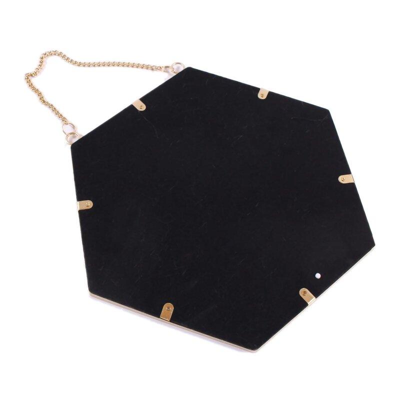 spiegel rund zum h ngen metall gold 20cm mit kette. Black Bedroom Furniture Sets. Home Design Ideas