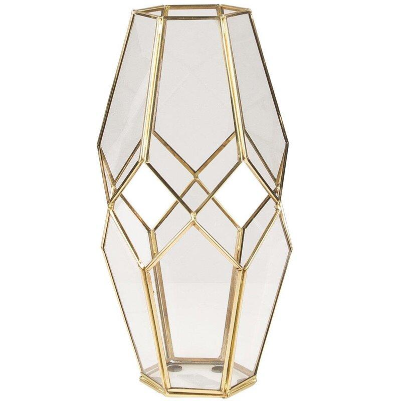 metall laterne peter klarglas gold messing windlicht. Black Bedroom Furniture Sets. Home Design Ideas